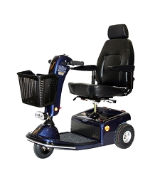 Shoprider Sunrunner 3 Mid-Size 3-Wheel Scooter Blue - 300Lbs